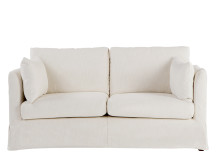 Antibes Loose Cover 2 Seater Sofa, Chalk