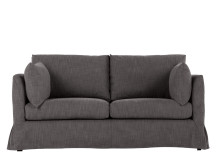 Antibes Loose Cover 2 Seater Sofa, Nickel
