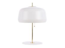 Atelier Table Lamp, White and Brass