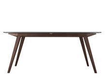 Aveiro Extending Dining Table, Dark Stain Oak and Grey
