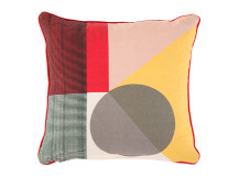Axle Printed Circle Cushion 45 x 45cm, Yellow Multi