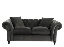 Bardot 2 Seater Chesterfield Sofa, Mink Grey Velvet