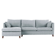Bari Left Hand Facing Corner Storage Sofa Bed, Malva Blue Grey