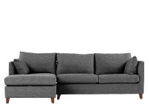 Bari Left Hand Facing Corner Storage Sofa Bed, Graphite Grey