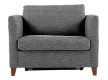 Bari Snuggler Sofa Bed, Malva Graphite