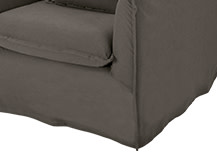 Belleville Armchair Cover Set, Ash Grey