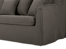 Belleville 3 Seater Cover Set, Ash Grey