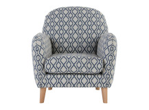 Bertie Accent Chair, Liona Blue
