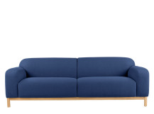 Brady 3 seater sofa, Dark Colbalt Blue