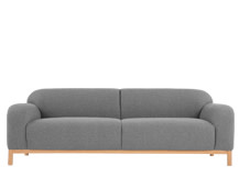 Brady 3 Seater Sofa, Whisper Grey Wool Mix