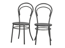 2 x Brodie Dining Chairs, Dark Slate Grey