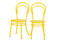 2 x Brodie Dining Chairs, Sulphur Yellow