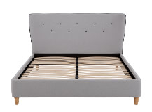 Burcot King Size Bed, Contrast Grey