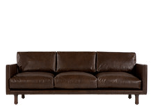 Carey 3 Seater Sofa, Vintage Brown Premium Leather