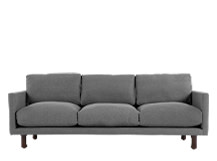 Carey 3 Seater Sofa, Slate Linen