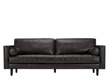 Scott 3 Seater Sofa, Vintage Brown Premium Leather