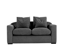 Christian 2 Seater Sofa, Charcoal Weave