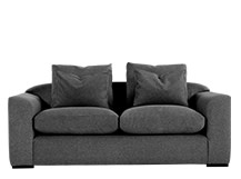 Christian 3 Seater Sofa, Charcoal Weave