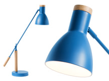 Cohen Table Lamp, Memphis Blue and Natural Oak