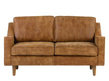Dallas 2 Seater Sofa, Outback Tan Premium Leather