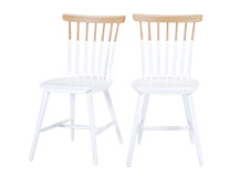 2 x Deauville Dining Chairs, Ash and White
