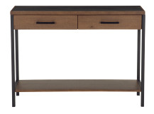 Depot Console Table, Dark Stain Pine Wood