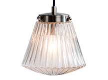 Edie Pendant Lamp, Brushed Steel