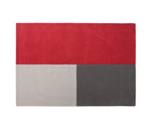 Elkan Tufted Rug 160cm x 230cm, Block Red