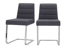 2 x Ellison Dining Chairs, Lead Grey