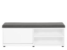 Elona Storage Bench, White Gloss