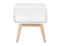Esme Bedside Table, White and Ash