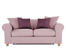 Fia 2 Seater Sofa Bed with Scatter Cushions, Rose Blush