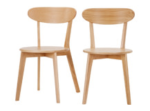 2 x Fjord Dining Chairs, Oak
