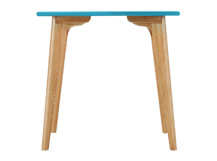 Fjord Compact Dining Table, Oak and Jay Blue