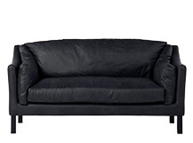 Hendrix 3 Seater Sofa, Black Premium Leather