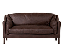 Hendrix 3 Seater Sofa, Saddle Brown Premium Leather