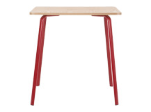 Hill Dining Table, Ash and Red