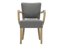Irvington Carver Chair, Graphite Grey