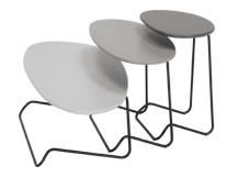 Island Set of Coffee Tables, Multicolour Grey