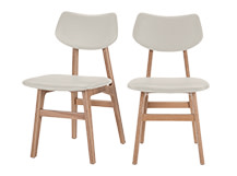 2 x Jacob Dining Chairs, Alabaster and Ash