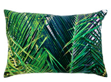 Jangala Velvet Cushion 40 x 60cm, Teal