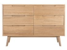Jenson Wide Chest of Drawers, Oak