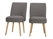 2 x Jersey Dining Chairs, Graphite Grey