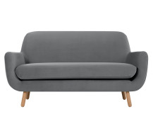 Jonah 2 Seater Sofa, Pebble Velvet