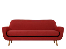 Jonah 3 Seater Sofa, Ketchup Red
