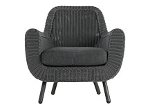Jonah Outdoor Armchair, Rattan Grey