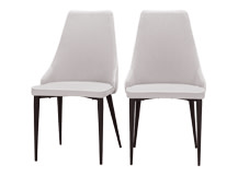 2 x Julietta Dining Chairs, Cloud Grey