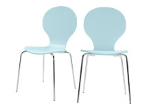 2 x Kitsch Dining Chairs, Sea Blue