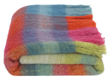Lax Mohair Throw 130 x 170cm, Bright Multi