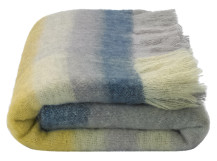 Lax Mohair Throw 130 x 170cm, Grey Multi